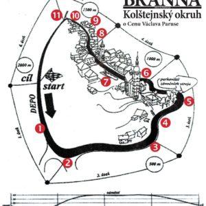 Stylizovaná mapa Kolštejnského okruhu od Ilji Zachovala